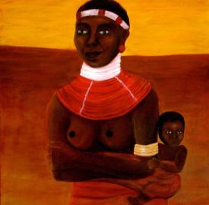 Massai mit Kind