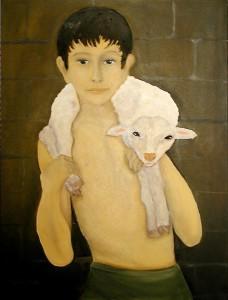 Niko mit dem Lamm